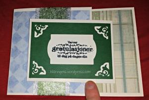 Bursdagskort første side joy fold med vannmerke